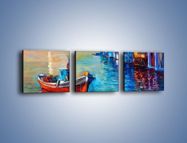 Obraz na płótnie – Domy na wodzie – trzyczęściowy GR444W1