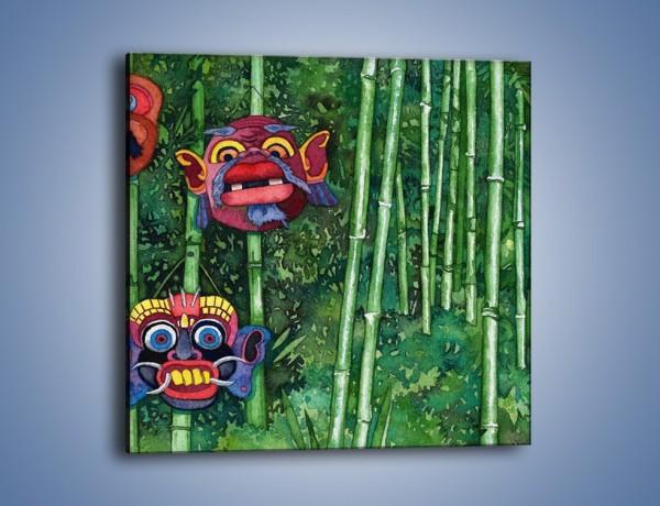 Obraz na płótnie – Maski dzikiego plemienia – jednoczęściowy kwadratowy GR051