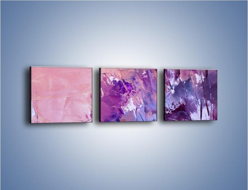 Obraz na płótnie – Mocna barwa fioletu – trzyczęściowy GR472W1