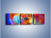 Obraz na płótnie – Kolorowy wir – trzyczęściowy GR502W1