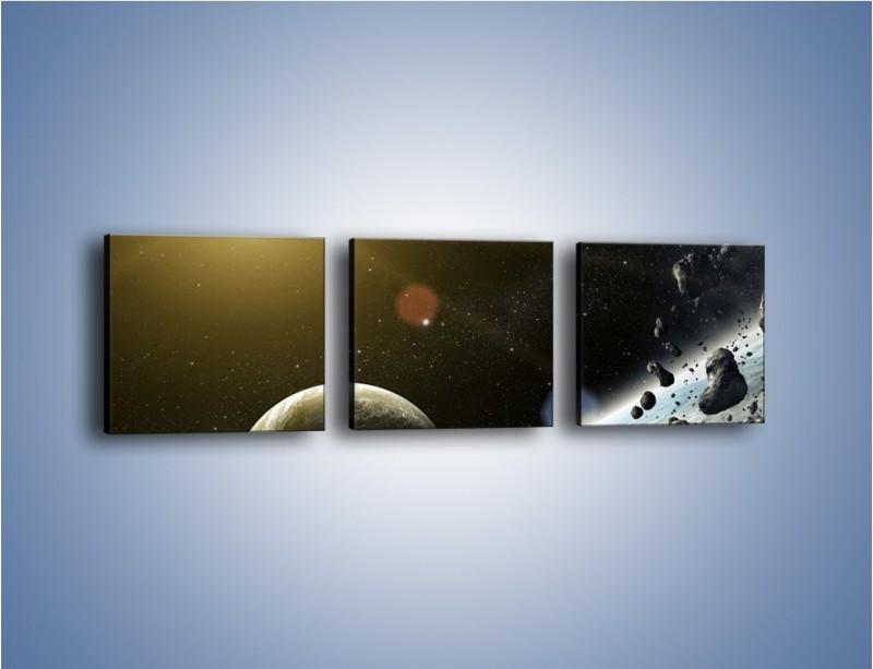 Obraz na płótnie – Dotrzeć między planety – trzyczęściowy GR534W1