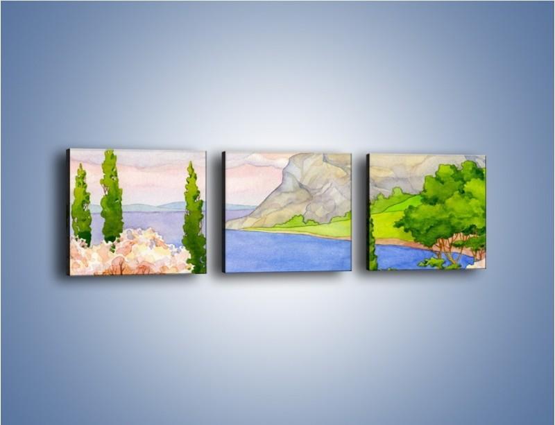 Obraz na płótnie – Krajobraz jak z pocztówki – trzyczęściowy GR541W1