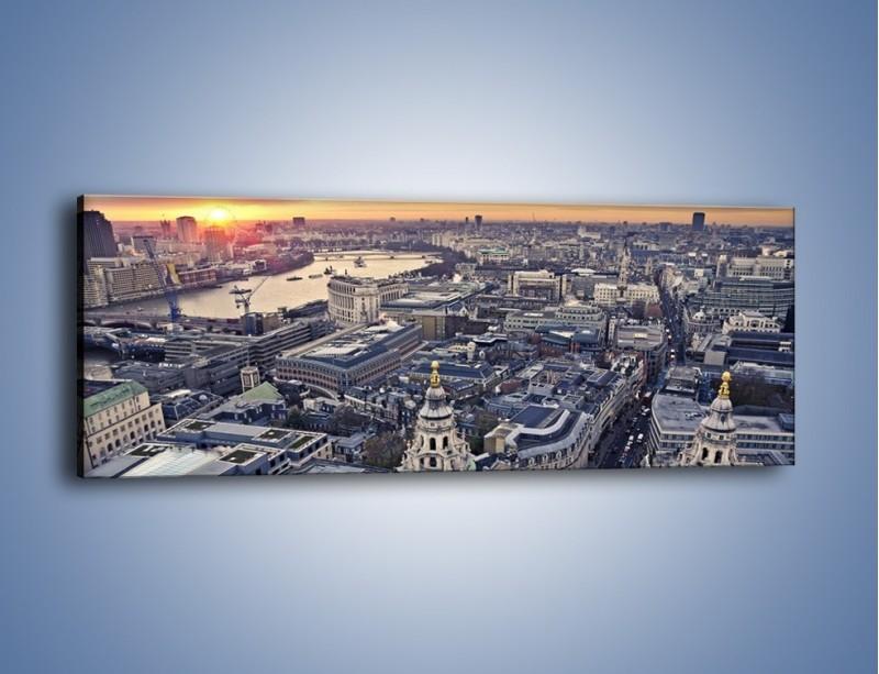 Obraz na płótnie – Widok na Londyn z Katedry św. Pawła – jednoczęściowy panoramiczny AM652