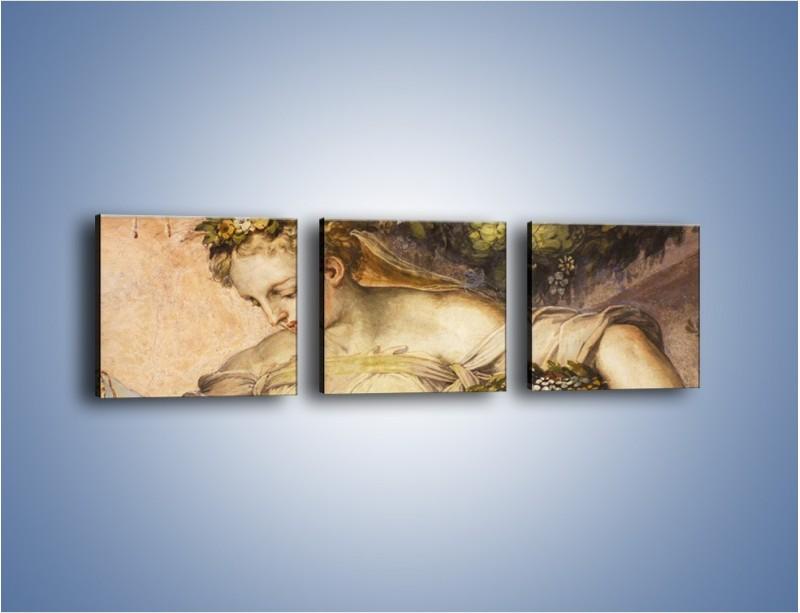 Obraz na płótnie – Odpoczynek pod drzewem – trzyczęściowy GR548W1