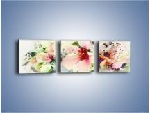 Obraz na płótnie – Kwiaty idealnie dobrane – trzyczęściowy GR552W1