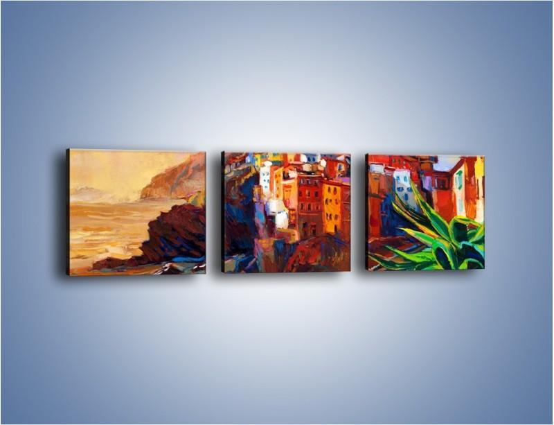Obraz na płótnie – Portugalia okiem malarza – trzyczęściowy GR579W1