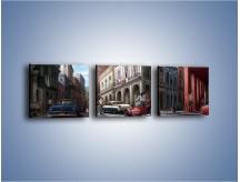 Obraz na płótnie – Codzienne życie na kubie – trzyczęściowy GR627W1