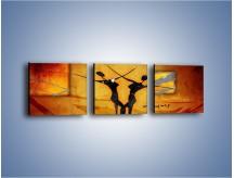 Obraz na płótnie – Dotyk w tańcu – trzyczęściowy GR633W1
