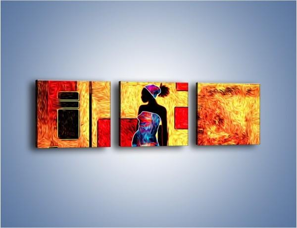 Obraz na płótnie – Kolory rozpalonej afryki – trzyczęściowy GR636W1