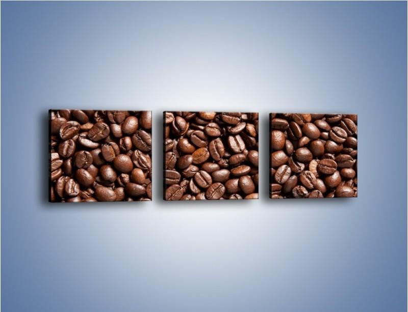 Obraz na płótnie – Ziarna świeżej kawy – trzyczęściowy JN061W1