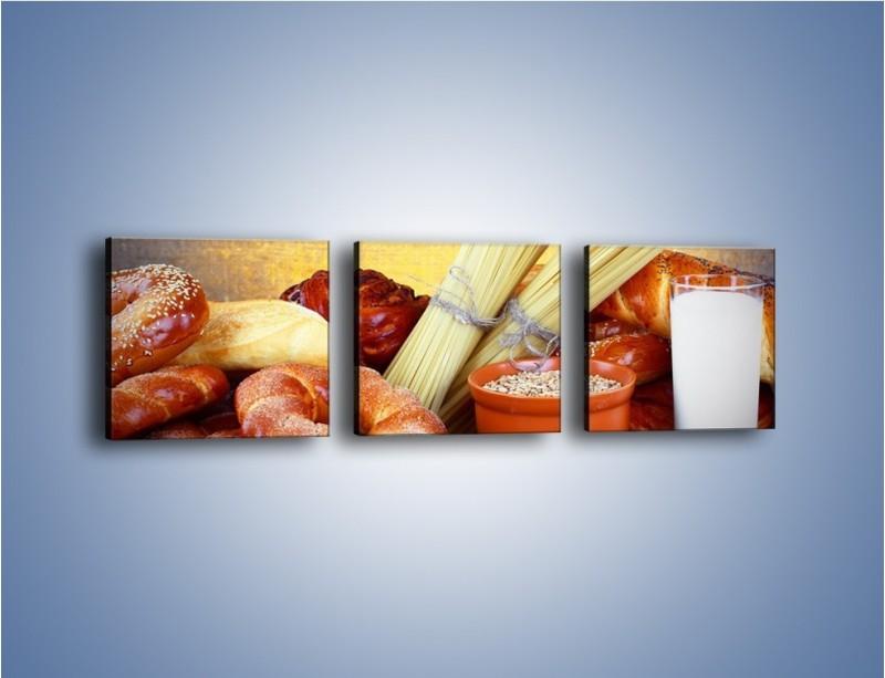 Obraz na płótnie – Mleczno-zbożowe produkty – trzyczęściowy JN091W1