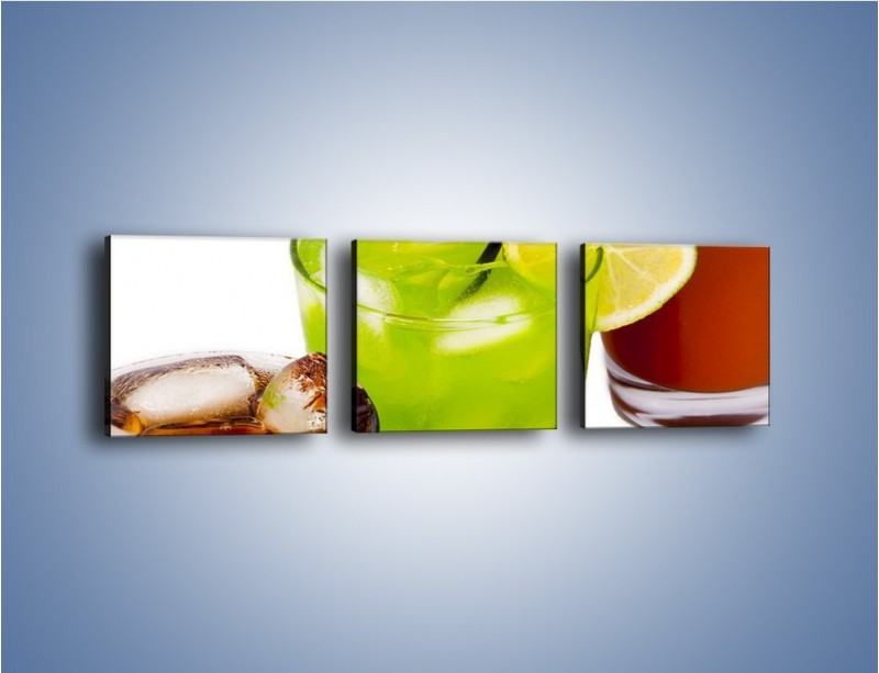 Obraz na płótnie – Kwaśno-słodkie drinki – trzyczęściowy JN093W1