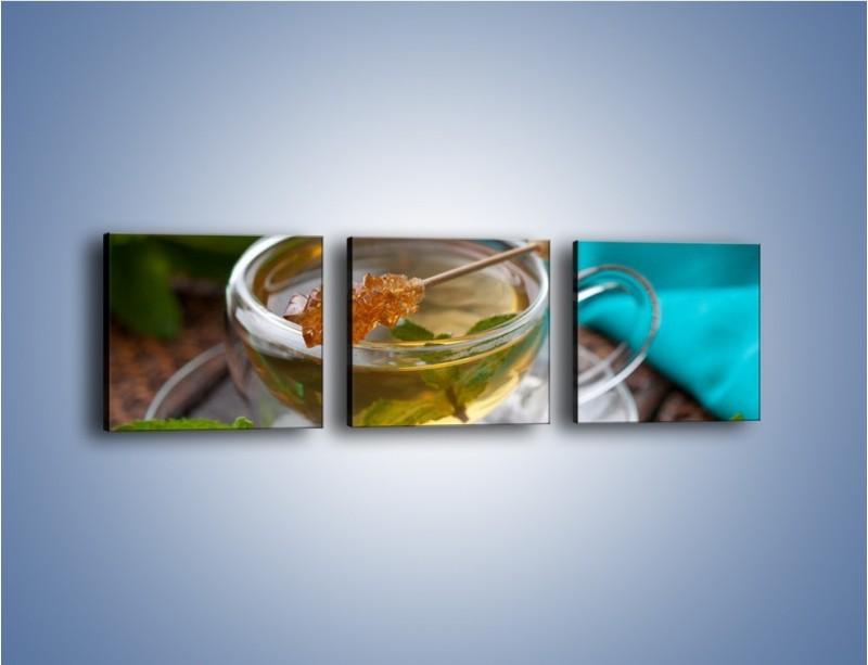 Obraz na płótnie – Oczyszczająca zielona herbata – trzyczęściowy JN104W1