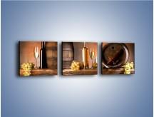 Obraz na płótnie – Beczki pełne winnego bogactwa – trzyczęściowy JN141W1