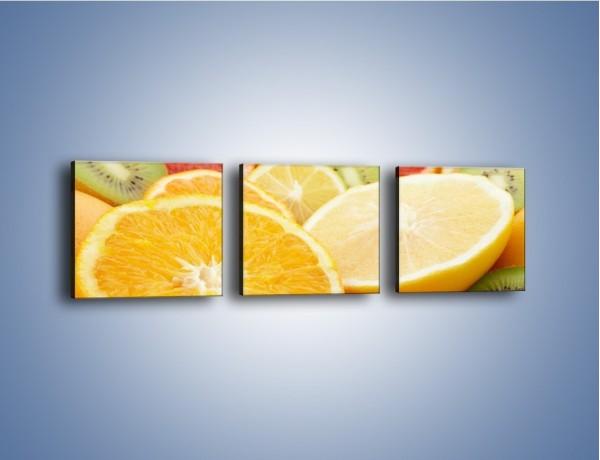 Obraz na płótnie – Kwaśny kęs witamin owocowych – trzyczęściowy JN157W1