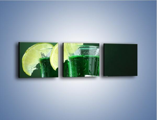 Obraz na płótnie – Zielona moc w kieliszku – trzyczęściowy JN164W1