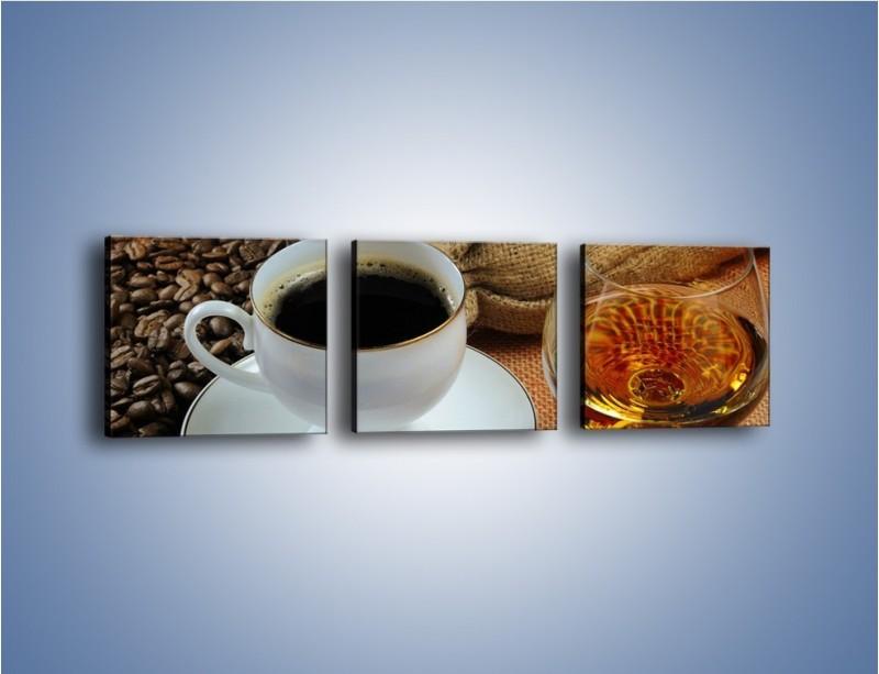 Obraz na płótnie – Wieczorowa kawa z prądem – trzyczęściowy JN166W1