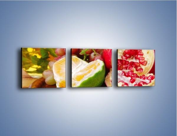 Obraz na płótnie – Owocowa taca pełna zdrowia – trzyczęściowy JN170W1