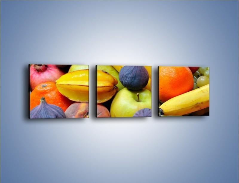 Obraz na płótnie – Owocowe kolorowe witaminki – trzyczęściowy JN173W1