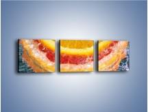 Obraz na płótnie – Cytrusowe trio – trzyczęściowy JN177W1