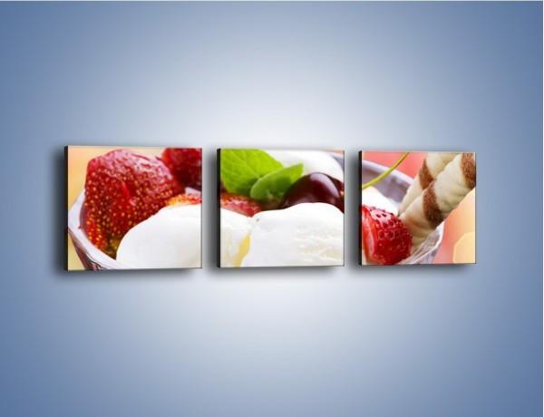 Obraz na płótnie – Lodowy deser w południe – trzyczęściowy JN187W1