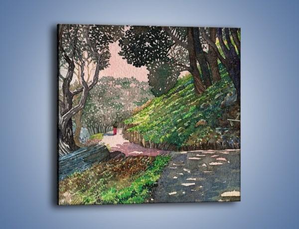 Obraz na płótnie – Krętą ścieżką w stronę domu – jednoczęściowy kwadratowy GR058