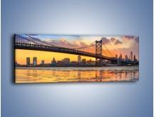 Obraz na płótnie – Most Benjamina Franklina w Filadelfii – jednoczęściowy panoramiczny AM660