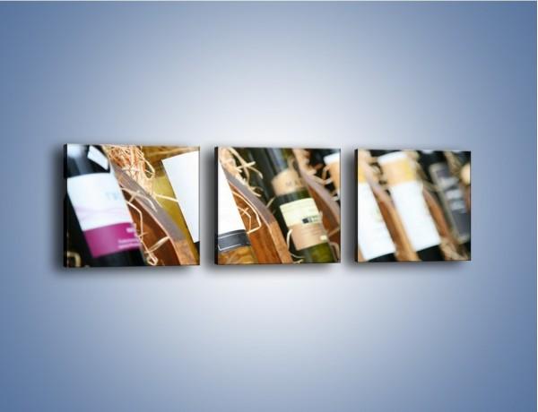 Obraz na płótnie – Kolekcja win – trzyczęściowy JN212W1