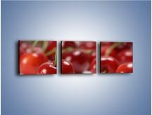 Obraz na płótnie – Czereśnia rządzi w kuchni – trzyczęściowy JN223W1