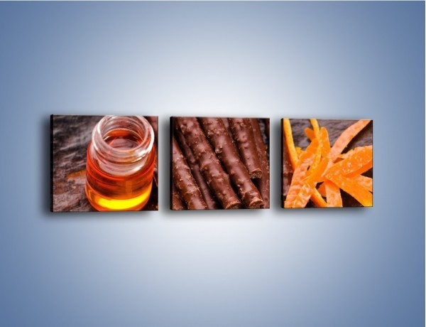 Obraz na płótnie – Stół pełen słodkości – trzyczęściowy JN244W1