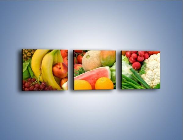 Obraz na płótnie – Mieszanka owocowo-warzywna – trzyczęściowy JN245W1