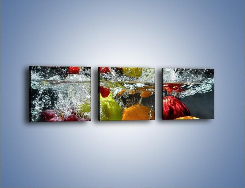 Obraz na płótnie – Głębokie owocowe zanurzenie – trzyczęściowy JN253W1