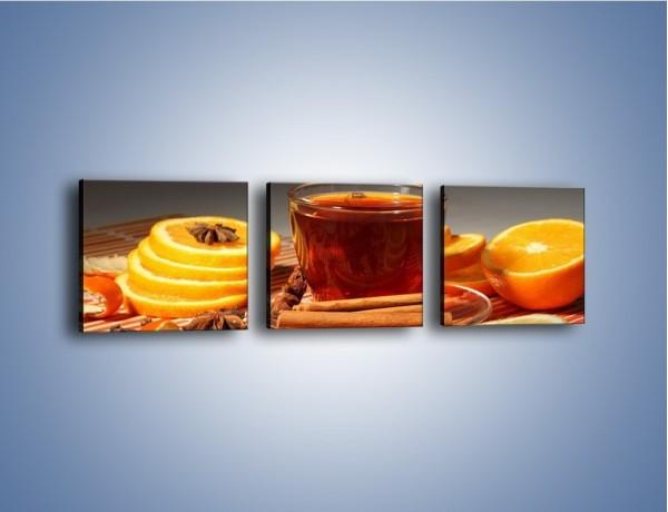 Obraz na płótnie – Imbirowo-pomarańczowe rozluźnienie – trzyczęściowy JN260W1