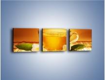 Obraz na płótnie – Delikatny smak herbaty – trzyczęściowy JN261W1
