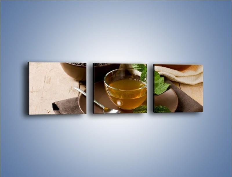 Obraz na płótnie – Filiżanka herbaty na poprawę humoru – trzyczęściowy JN264W1
