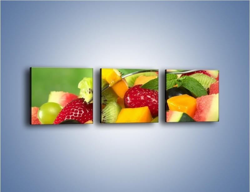 Obraz na płótnie – Arbuzowa misa z owocami – trzyczęściowy JN274W1