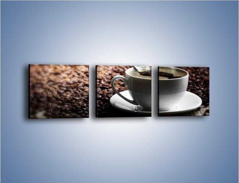 Obraz na płótnie – Aromatyczna filiżanka kawy – trzyczęściowy JN298W1