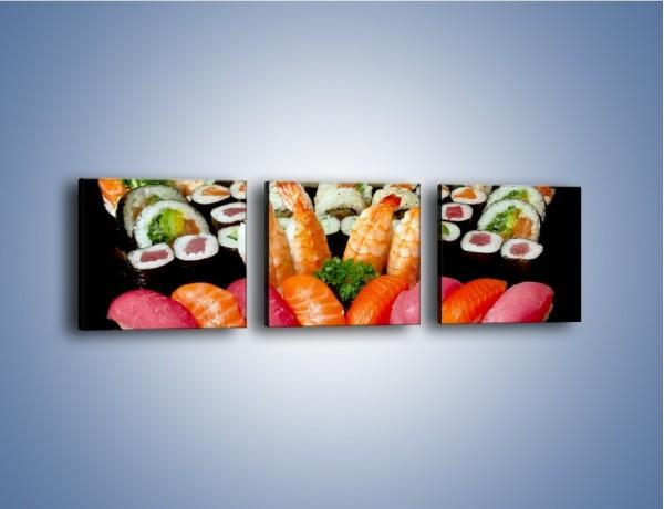 Obraz na płótnie – Smaki prosto z azji – trzyczęściowy JN307W1