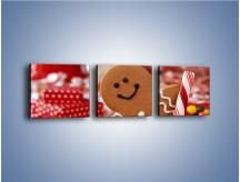 Obraz na płótnie – Ciasteczkowy ulubieniec dzieci – trzyczęściowy JN308W1