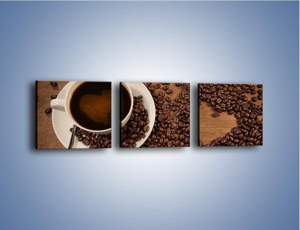 Obraz na płótnie – Miłość do kawy – trzyczęściowy JN312W1