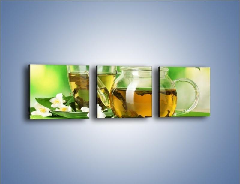 Obraz na płótnie – Herbaciane ukojenie – trzyczęściowy JN316W1