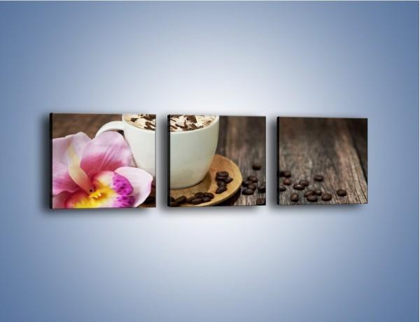 Obraz na płótnie – Kawa z bitą śmietaną – trzyczęściowy JN321W1