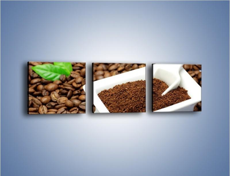 Obraz na płótnie – Zmielona kawa – trzyczęściowy JN340W1