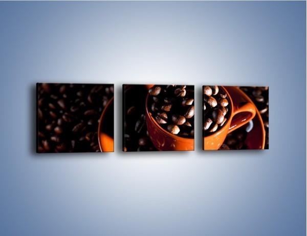 Obraz na płótnie – Filiżanka kawy z charakterem – trzyczęściowy JN343W1
