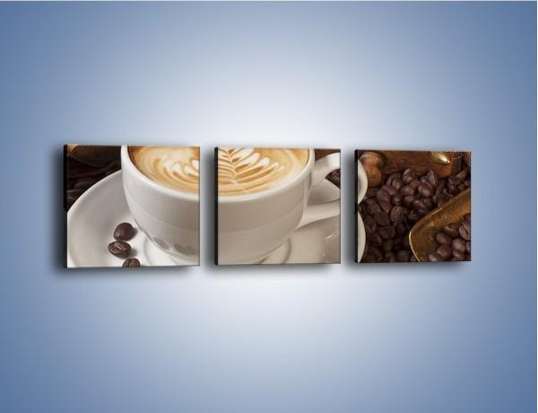 Obraz na płótnie – Czas na kawę – trzyczęściowy JN353W1