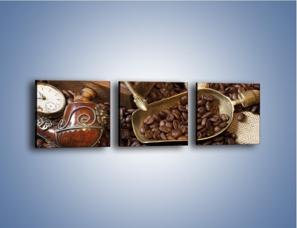 Obraz na płótnie – Szuflada pełna kawy – trzyczęściowy JN356W1