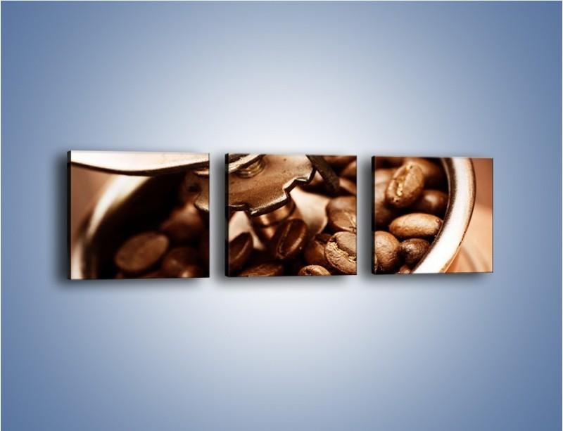 Obraz na płótnie – Kawa w młynku – trzyczęściowy JN361W1