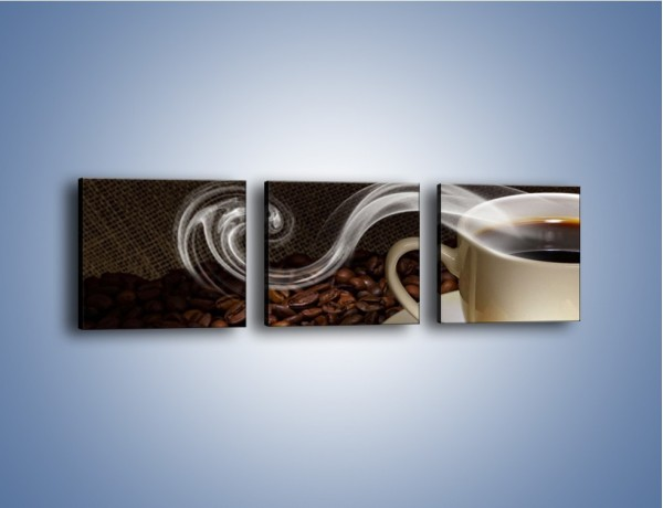 Obraz na płótnie – Kawa z kostkami cukru – trzyczęściowy JN364W1