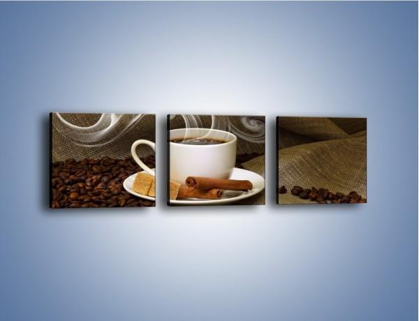 Obraz na płótnie – Zapach kawy niesiony wiatrem – trzyczęściowy JN365W1