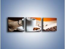 Obraz na płótnie – Aromatyczny zapach kawy – trzyczęściowy JN374W1